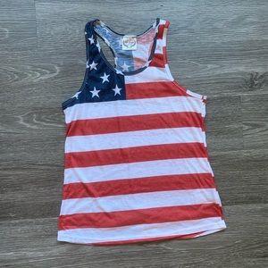 Tops - American Flag Design Shirt